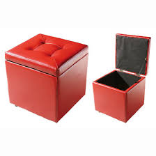innovative red storage ottoman tribecca home charlotte red faux