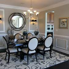 mirrored dining room table and chairs mirror above dining room