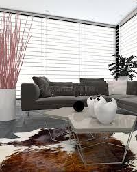 modern lounge interior with large windows stock illustration