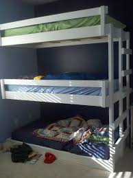 Plans For Triple Bunk Beds by Ana White Easy Built In Triple Bunk Bed Plans Diy Projects
