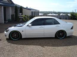 lexus is200 australia lexus is200 pearl white black top rims coilovers big stereo