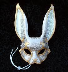 venetian rabbit mask v4 handmade leather rabbit by merimask