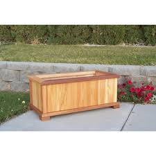 patio planter wood country large rectangular patio planter tl p004 b free