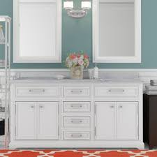 White Double Sink Bathroom Vanities by Darby Home Co Colchester 60