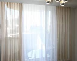 Cotton Gauze Curtains Sheer Curtains Etsy