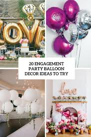 Pink Balloon Decoration Ideas 20 Engagement Party Balloon Décor Ideas To Try Shelterness