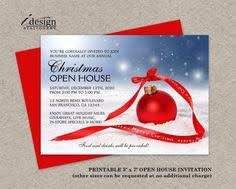 Christmas Ornament Party Invitations - corporate holiday party invitation featuring a blue christmas