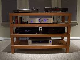 awesome home built hifi rack made of ikea lack coffee tables