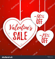 valentines day sale offer banner template stock vector 542426227