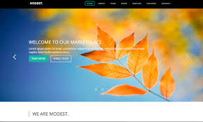 modest simple business landing page a free bootstrap themes