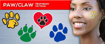 paw print temporary tattoos made in the usa