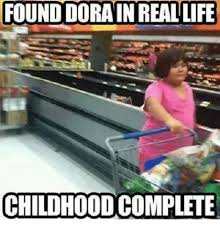 found dora in real life childhood complete life meme on esmemes com