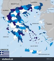 Aegean Sea Map Very Big Size Political Map Greece Stock Illustration 98367395