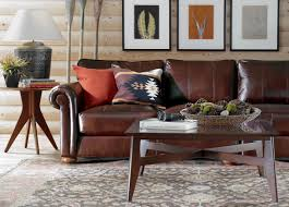 ethan allen leather sofa home design