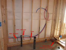 basement bathroom rough plumbing u2014 new basement and tile