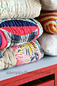 savvy southern style storage for my vintage quilts and pillows