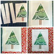 christmas tree quilt block tutorial full color pictures and