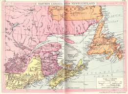 Map Canada by Canada East And Newfoundland Map 1935 Philatelic Database