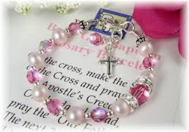 baby rosary bracelet baby rosary bracelet baptism christening new by addictivejewelry