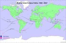 Future Map Of The World by Hybrid Solar Eclipse Of The Future