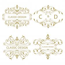 collection of floral ornament logo vector free