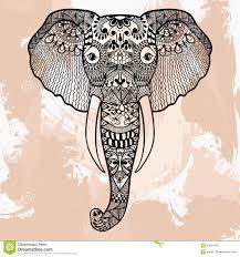 zentangle of elephant design in doodle style ornam