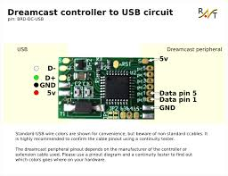 raphnet technologies dreamcast controller to usb circuit