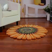 Small Area Rugs Sunflower Shaped Floral Small Area Rug Rugs Pinterest