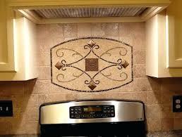 backsplash medallions kitchen black glass home ideas tiles black white tile backsplash medallions