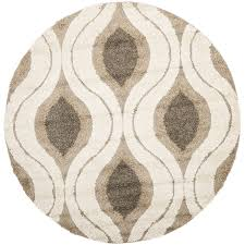 Brown Round Rugs Amazon Com Safavieh Florida Shag Collection Sg461 1179 Cream And