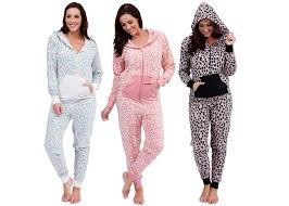 one jumpsuits womens hooded pj s all in one onezee jumpsuits pyjamas