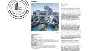 the interlace by oma ole scheeren wins global urban habitat