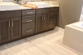 Vinyl Plank Flooring In Bathroom Luxury Vinyl Plank Flooring With Shaker Cabinets In Bathroom