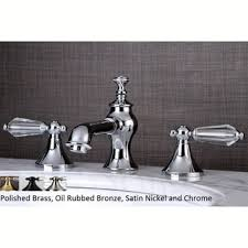 crystal handle chrome widespread bathroom faucet with hardware