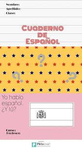 Page de garde pour le cahier de 4ème  Espagnolhispania