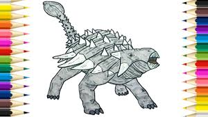 drawing and coloring ankylosaur coloring pages for kids learn