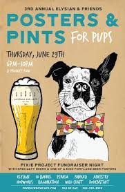 Portland Neighborhood Map Poster by Posters U0026 Pints For Pups At Produce Row Cafe In Portland Or On