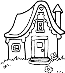 house coloring pages printable gingerbread house coloring pages
