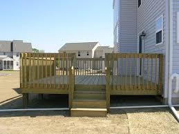 pressure treated wood deck in lancaster pa stump u0027s decks u0026 porches