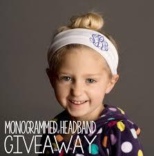 monogram headband monogrammed headband giveaway simply clairety