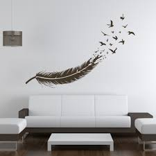 28 sticker on wall sticker vinyl wall art decal wall art sticker on wall aliexpress com buy abstract feather into birds vinyl
