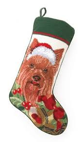 boxer dog yorkshire boxer needlepoint dog christmas stocking stockings christmas