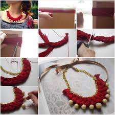 beaded necklace make images Diy braided gold beaded necklace tutorial step by step step by jpg