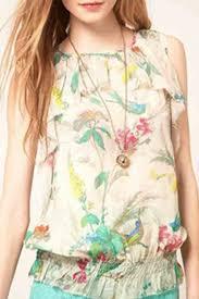print blouses floral print flouncing chiffon blouse womens shirts blouses