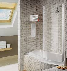 bathroom tub shower tile ideas white and blue ceramic tiled wall
