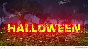 happy halloween animated images glowing happy halloween text in a dark forest stock animation