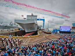 Queen Elizabeth Ii Ship by Hms Queen Elizabeth Aircraft Carrier Sets Sail For Sea Trials