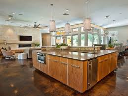 kitchen great room designs concrete floors in kitchen zamp co