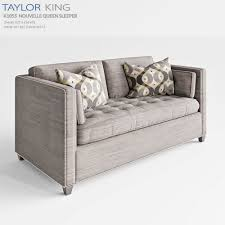 King Furniture Sofa Bed by Taylor King Nouvelle Queen Sleeper 3d Model Cgtrader