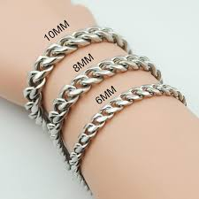 metal chain link bracelet images Men 39 s stainless steel chunk chain link bracelet things to zen about jpg